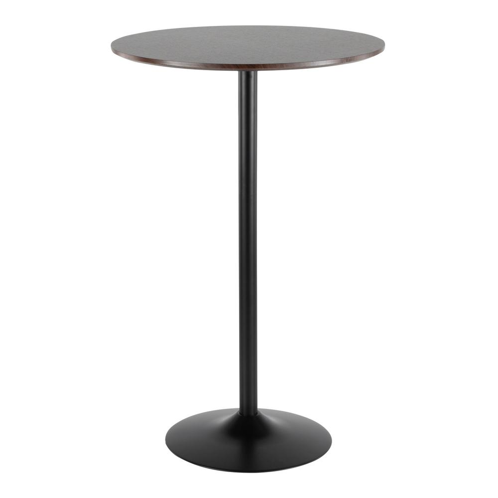 Superieur Lumisource Pebble Adjustable Dining To Bar Table In Black And Espresso