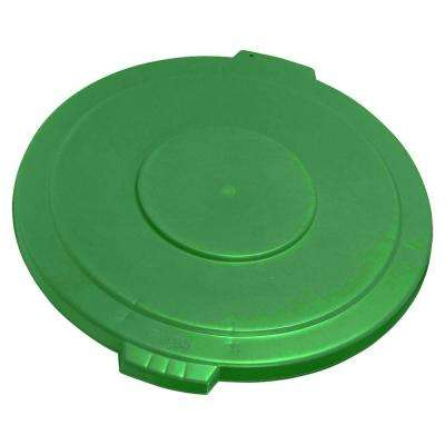 Bronco 44 Gal. Green Round Trash Can Lid (3-Pack)