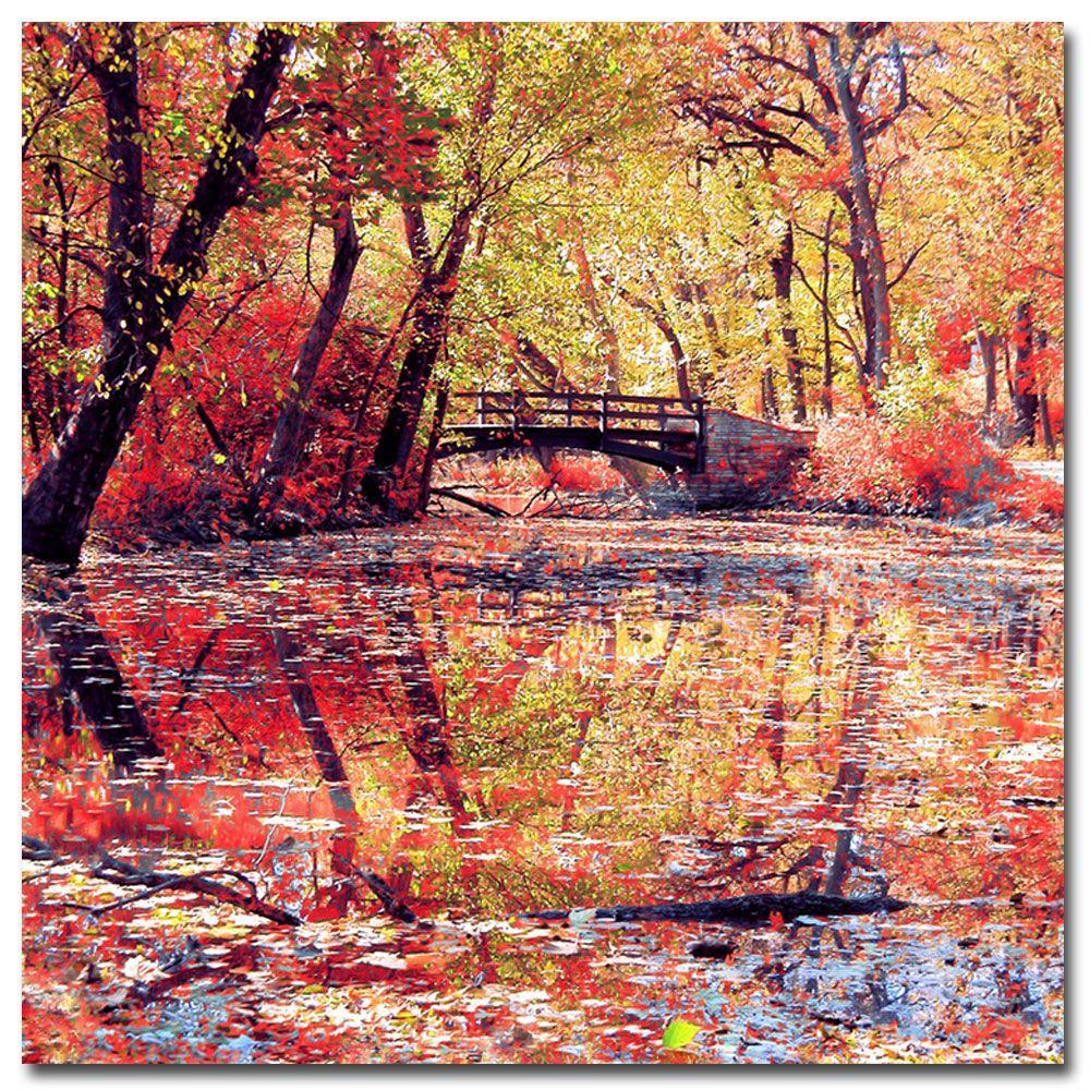 35 in. x 35 in. Monet's Garden Canvas Art