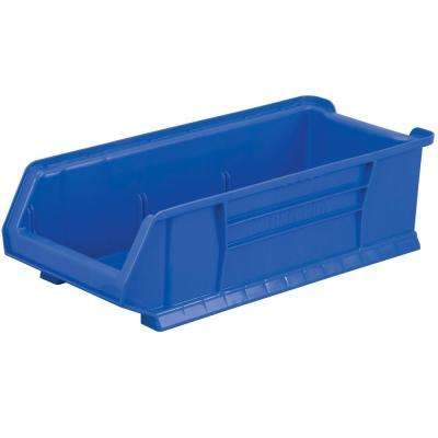 Super-Size AkroBin 11 in. 200 lbs. Storage Tote Bin in Blue with 5.0 Gal. Storage Capacity