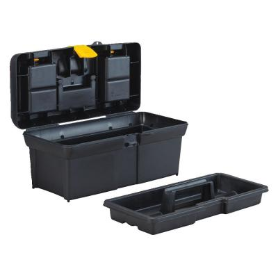 16 in. Portable Plastic with Lid Organizer Mobile Tool Box