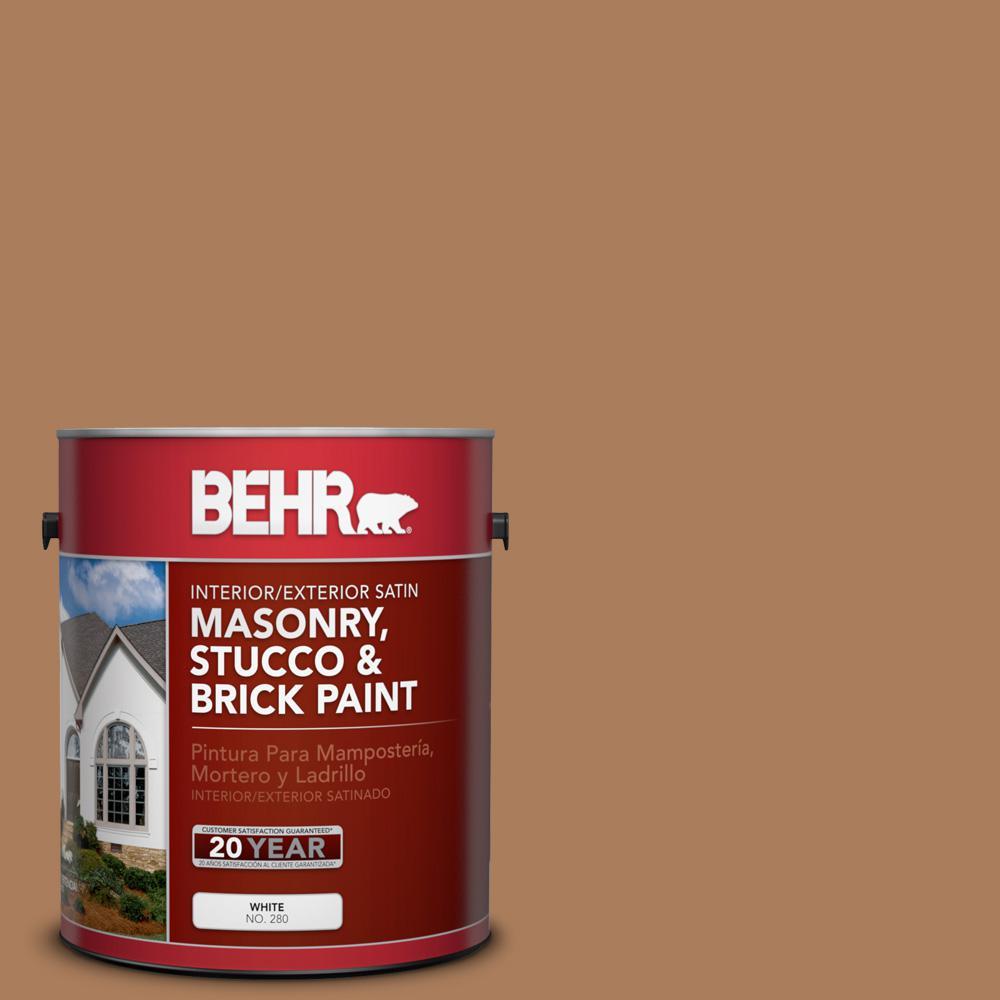 1 gal. #S230-6 Burnt Toffee Satin Interior/Exterior Masonry, Stucco and Brick Paint