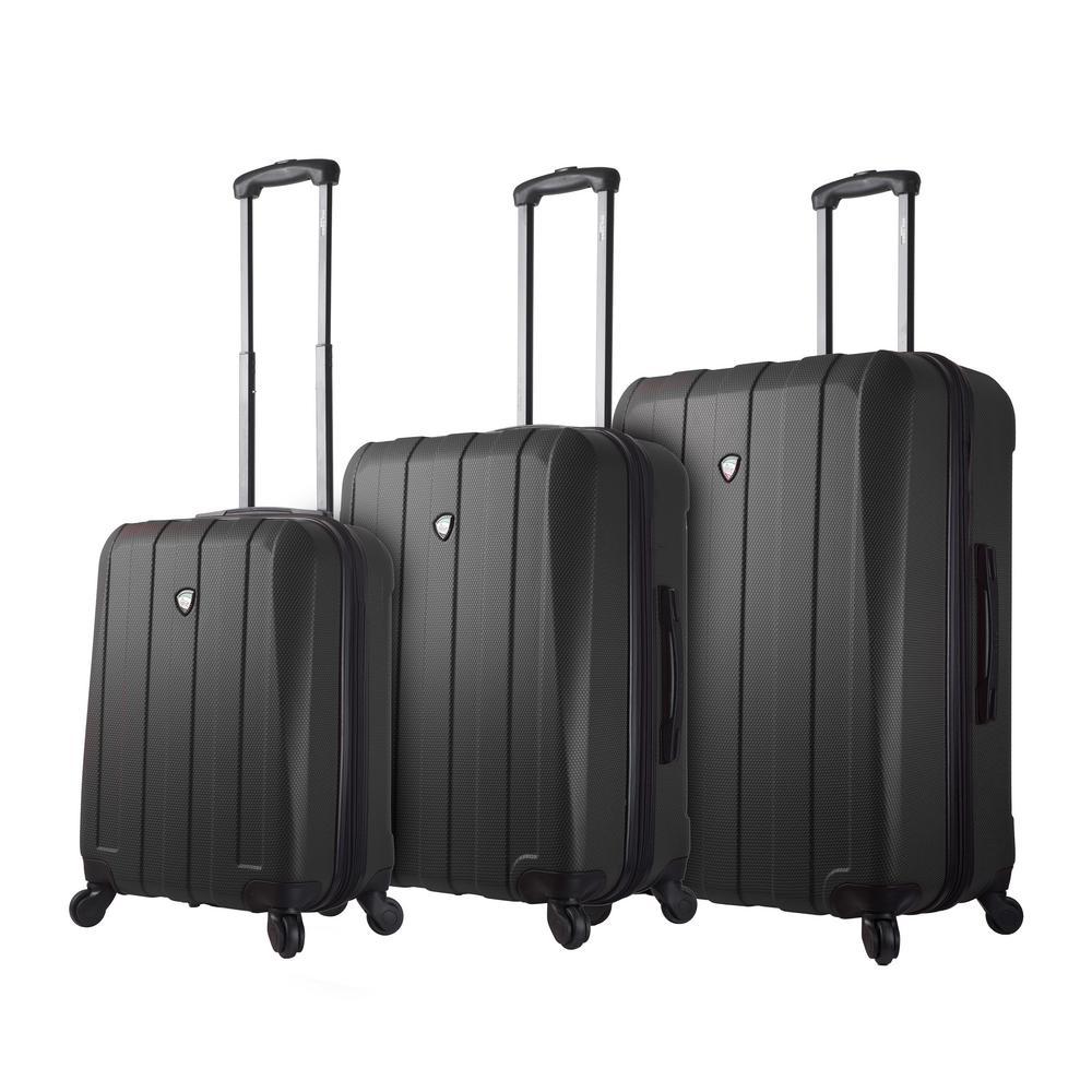 Tosetti 3-Piece Black Hard Side Spinner Luggage Set
