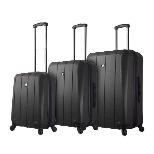 Mia Toro Tosetti 3-Piece Black Hard Side Spinner Luggage Set M1220-03PC-BLKNL