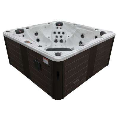 Niagara Falls 60-Jet 7 Person Hot Tub with LED Lighting and Bluetooth Speakers