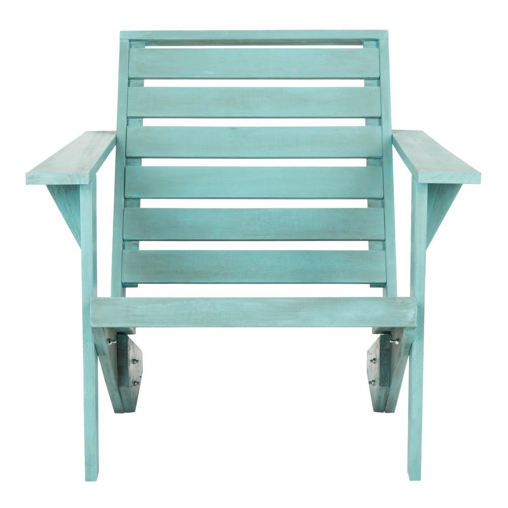 Lanty Oriental Blue Wood Adirondack Chair