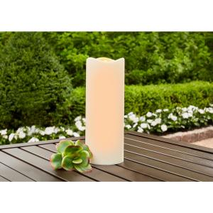 3 in. x 8 in. Remote Ready Battery Operated Outdoor Patio Resin LED Candle