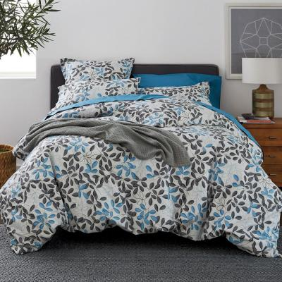 Shadow Leaf Cotton Percale Duvet Cover