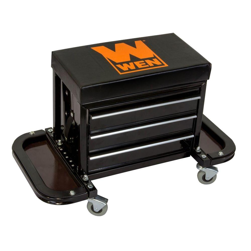 Wen Garage Glider Rolling Tool Chest Seat 73015 The Home