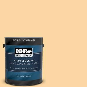 Behr Ultra 1 Gal Qe 19 September Sun Satin Enamel Exterior Paint And Primer In One 985401 The Home Depot