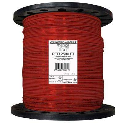 2500 ft. 12 Red Solid THHN Wire