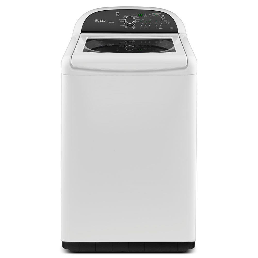 Whirlpool Cabrio Platinum 4.8 cu. ft. High-Efficiency Top Load Washer in White, ENERGY STAR