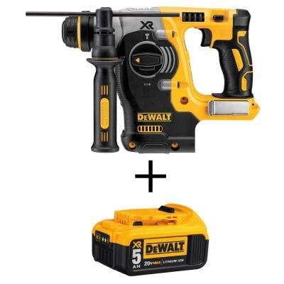 20-Volt MAX Li-Ion Brushless Cordless 1 in. SDS-Plus L-Shape Rotary Hammer (Tool-Only) with 20-Volt Li-Ion Battery 5 Ah