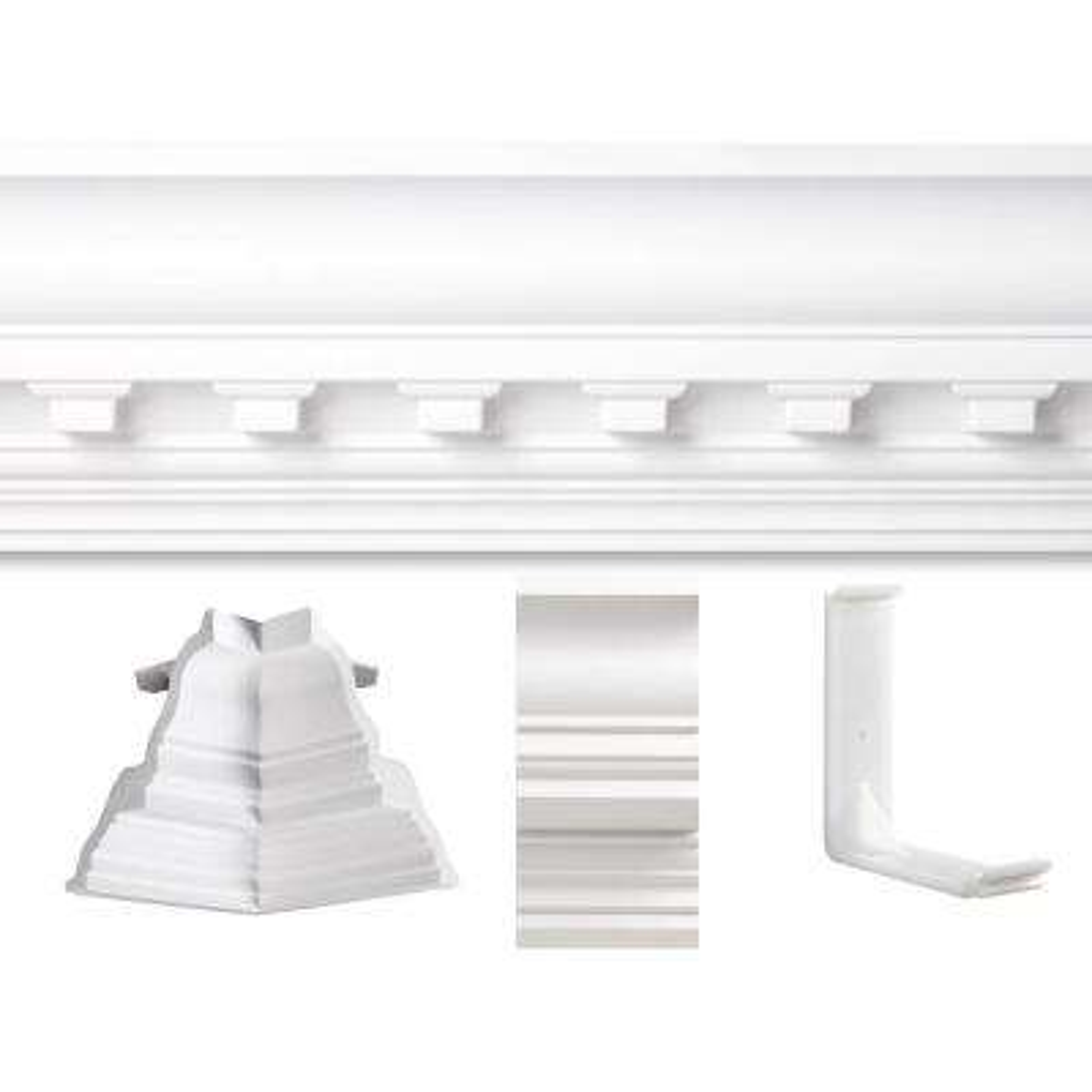 13 ft. x 13 ft. Concord Dentil Crown Moulding Room Kit