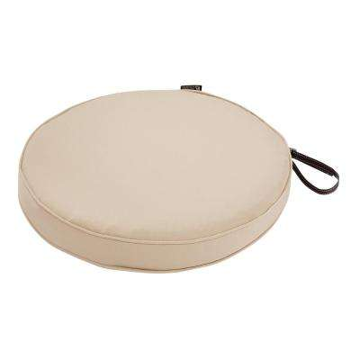 Montlake Fade Safe Antique Beige 18 in. Round Outdoor Seat Cushion