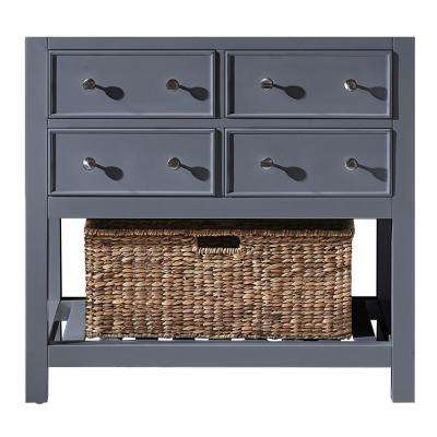Elodie 35.2 in. W x 21.7 in. D x 33.5 in. H Bath Vanity Cabinet Only in Cashmere Grey