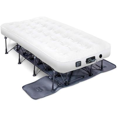 EZ-Bed 7 in. Thick Twin Size Legs Air Mattress with Inflatable Deflate Defender