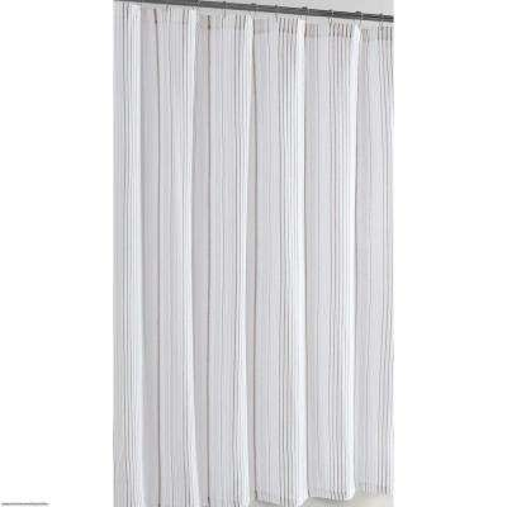 72 in. x 72 in. Warm Hearth Stripe Shower Curtain