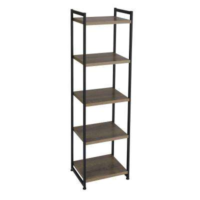 Ashwood 5-Shelf Storage Tower