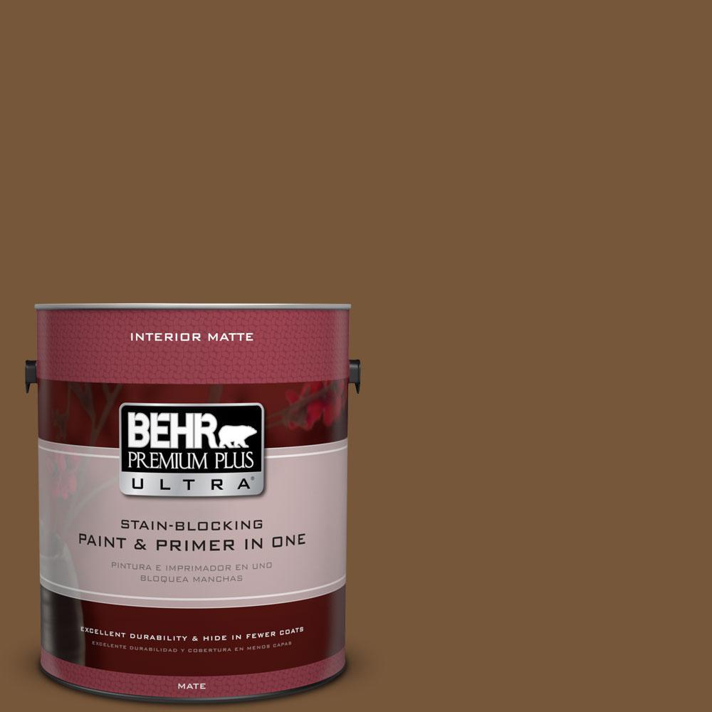 1 gal. #290F-7 Wooden Cabin Flat/Matte Interior Paint