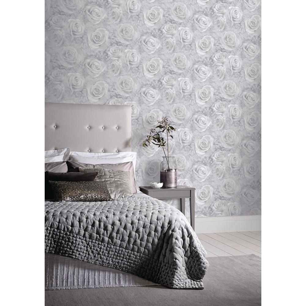 Reverie Silver Wallpaper
