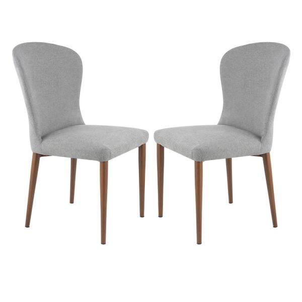 Poly and Bark Creston Grey Dining Chair (Set of 2) HD-319-DGRY-X2