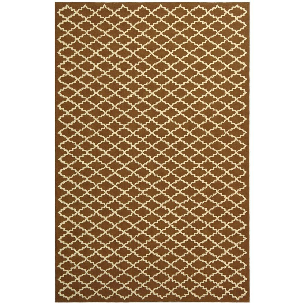 Safavieh Newport Chocolate/Ivory 5 ft. 6 in. x 8 ft. 6 in. Area Rug