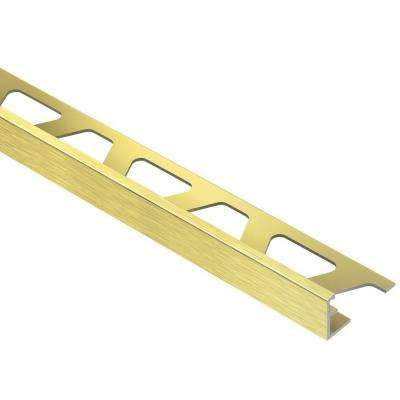 Jolly Brushed Brass Anodized Aluminum 3/8 in. x 8 ft. 2-1/2 in. Metal Tile Edging Trim