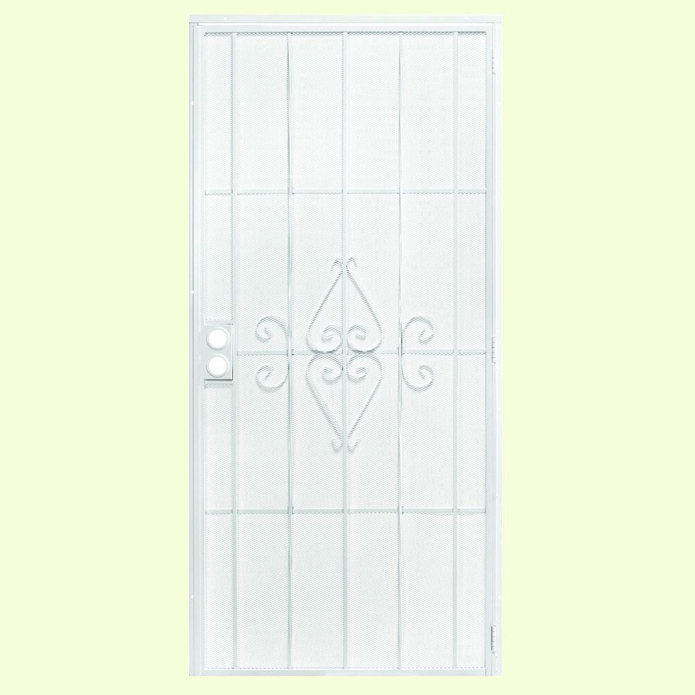 First Alert 36 in. x 80 in. Laguna Steel White Prehung Security Door