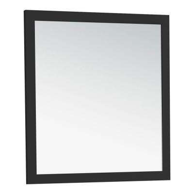 Chelsea 34 in. L x 32 in. W Wall Mounted Decor Vanity Mirror in Black