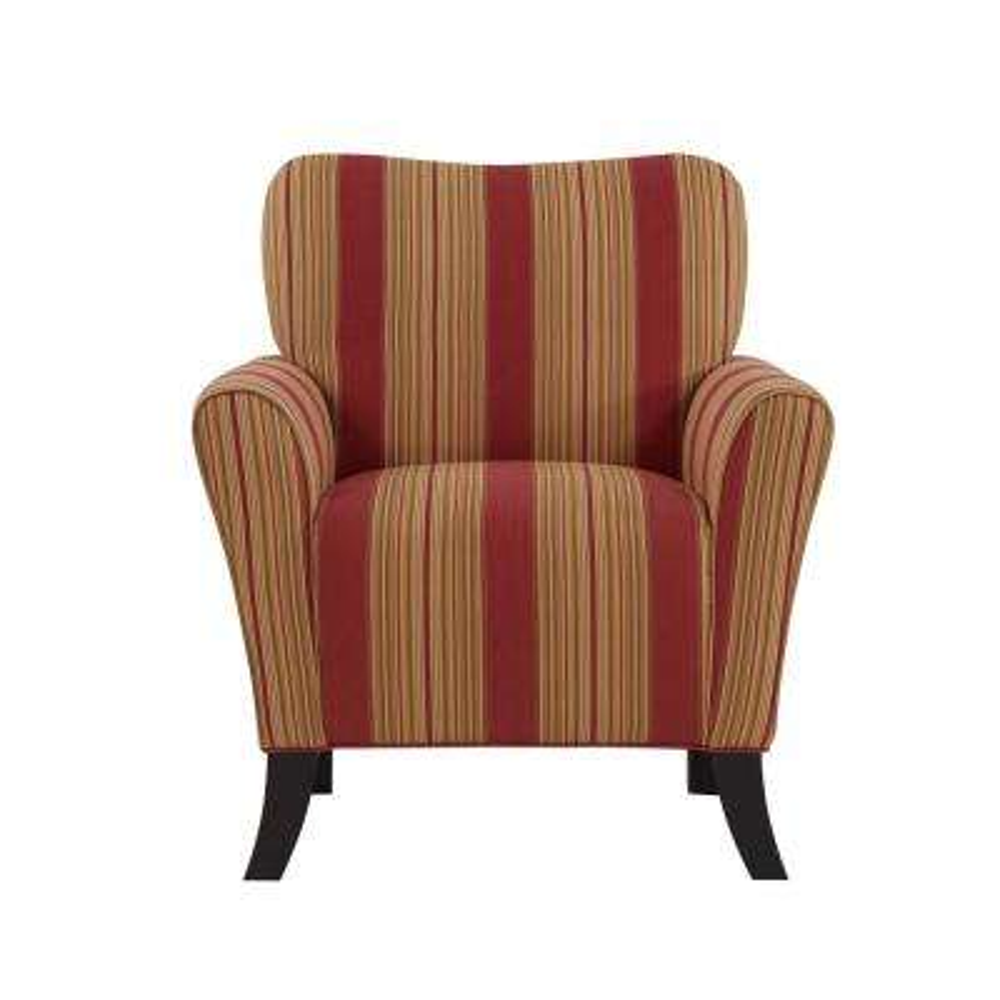 Sasha Crimson Red Stripe Flared Arm Chair