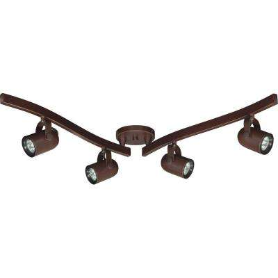 4-Light MR16 Halogen Russet Bronze Swivel Track Lighting Kit