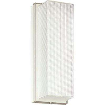 Hard-Nox Collection 1-Light Outdoor White Wall Lantern