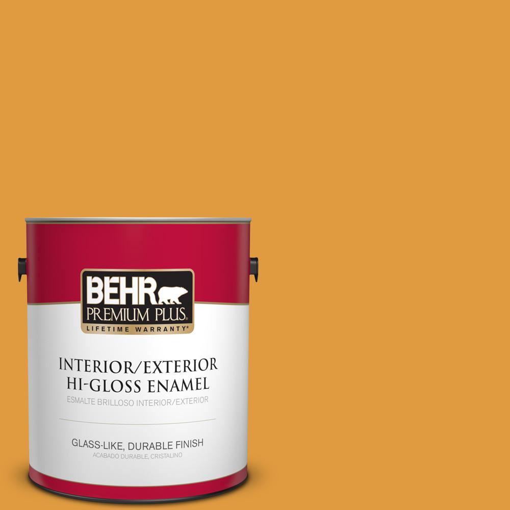 1 gal. #T18-05 Life Is Good Hi-Gloss Enamel Interior/Exterior Paint
