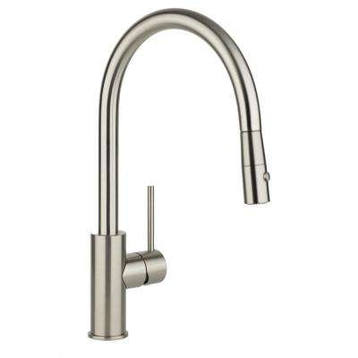 Harmony Single-Handle Pull-Down Sprayer Kitchen Faucet in Brushed Nickel