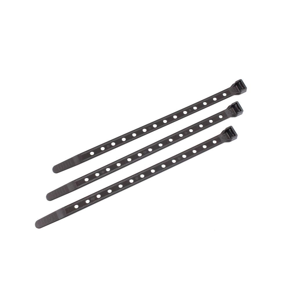 14 in. Universal Cable Tie with 50 lbs. Strength, Black (100-Pack)