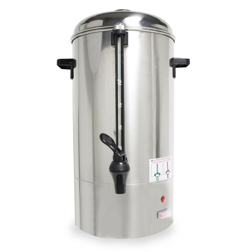 General 40-Cup Coffee Percolator in Stainless Steel (Silver)