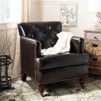Colin Dark Brown Leather Arm Chair