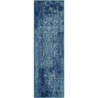 Evoke Navy/Ivory 2 ft. 2 in. x 17 ft. Runner Rug