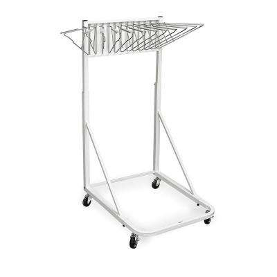 Blueprint Vertical File Steel Rolling Stand, White