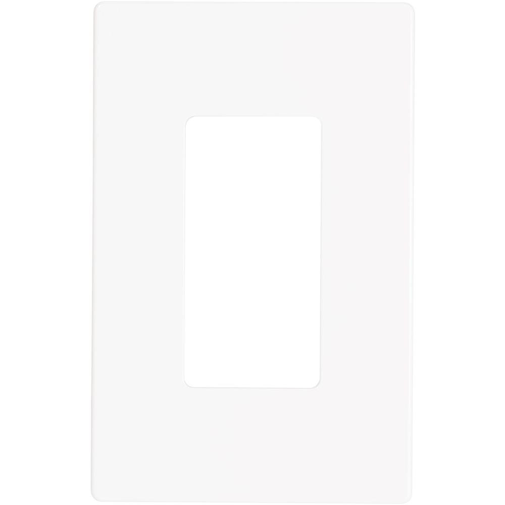 aspire 1gang screwless wall plate white satin