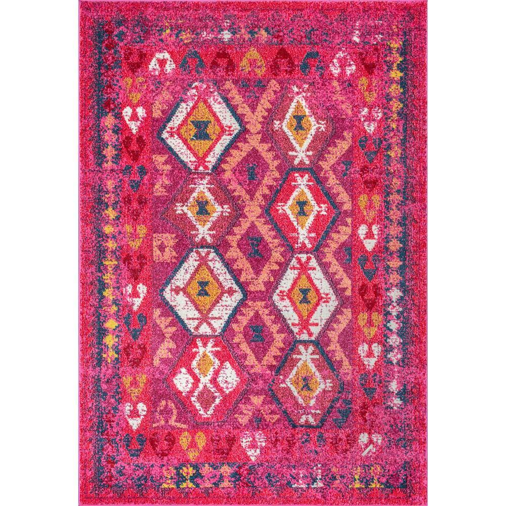 NuLOOM Tribal Mayola Pink 4 Ft. X 6 Ft. Area Rug-AHSH03A