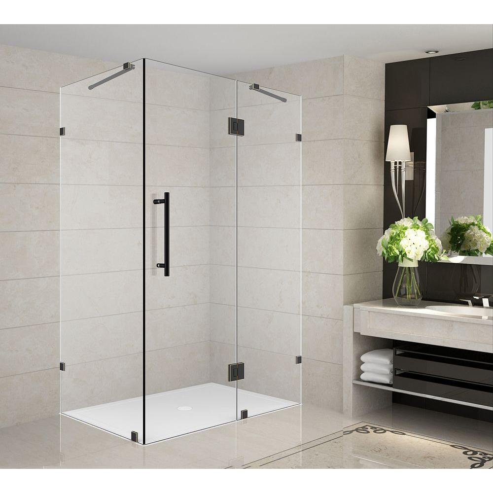 Aston Avalux 33 in. x 30 in. x 72 in. Completely Frameless Shower Enclosure in Oil Rubbed Bronze