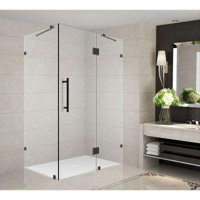 Avalux 34 in. x 30 in. x 72 in. Completely Frameless Shower Enclosure in Oil Rubbed Bronze