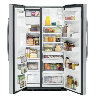Profile 21.9 cu. ft. Side by Side Refrigerator in Stainless Steel, Counter Depth