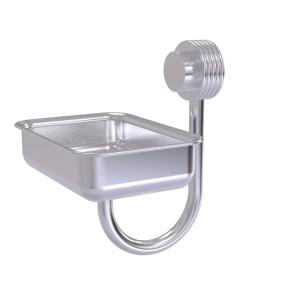 Allied Brass Venus Collection Wall Mounted Soap Dish with Groovy Accents in Satin Chrome by Allied Brass