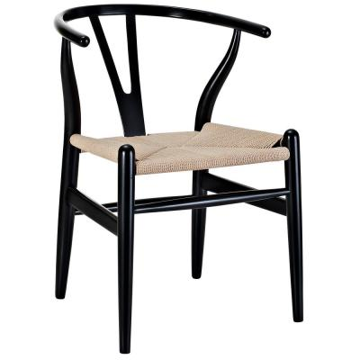 Amish Black Dining Wood Armchair