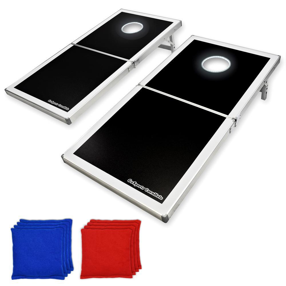4 ft. x 2 ft. LED Edition Cornhole PRO Regulation Size Bean Bag Toss Game Set