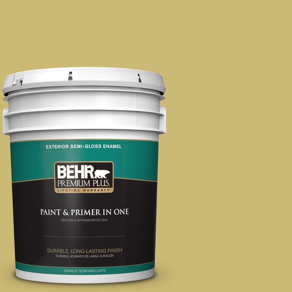 5 gal. #HDC-SP16-02 Pistachio Shortbread Semi-Gloss Enamel Exterior Paint