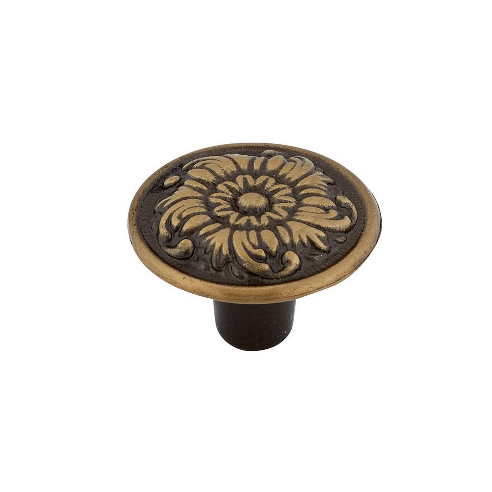 Traditional 1-3/16 in. (30 mm) Bronze Round Cabinet Knob